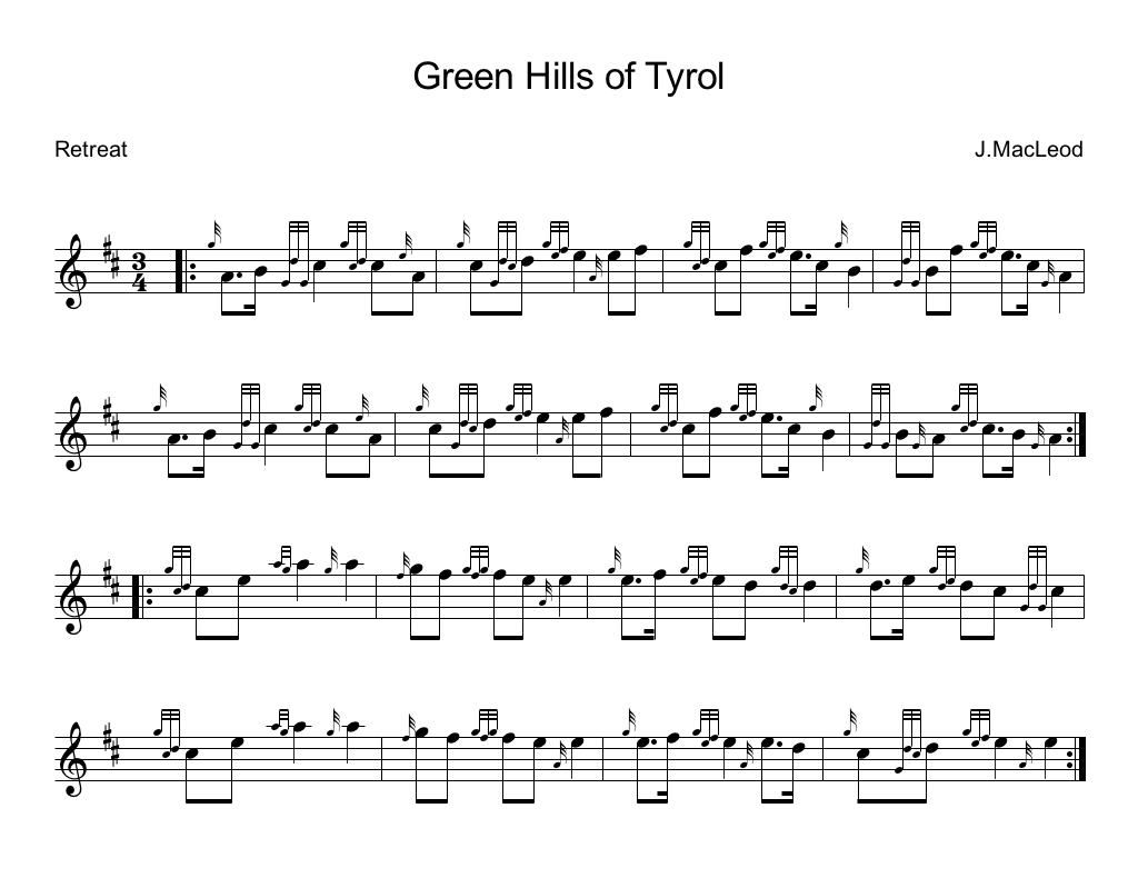 Learn how to play Green Hills of Tyrol on the bagpipes for ...