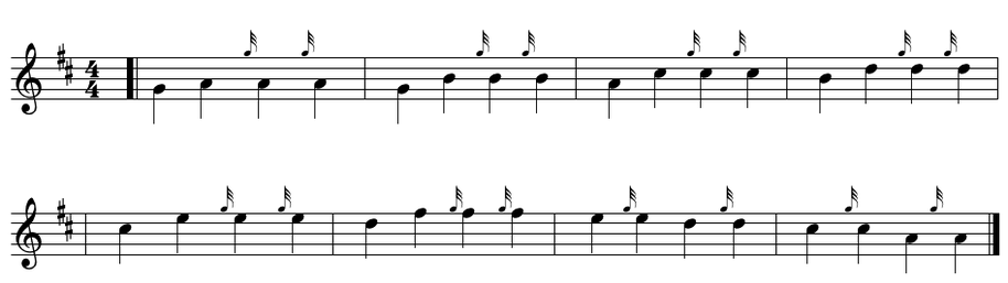 bagpipe high G grace note exercise