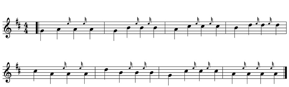 bagpipe E grace note exercise