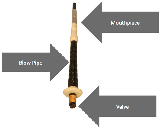 bagpipe blow stick
