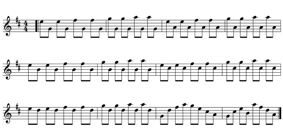 bagpipe scale exercise