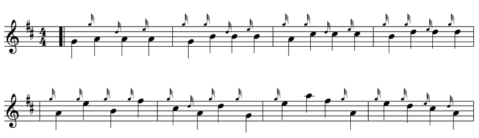 bagpipe grace note exercise